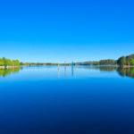 Bollards on Lake Ginninderra Gary Lum
