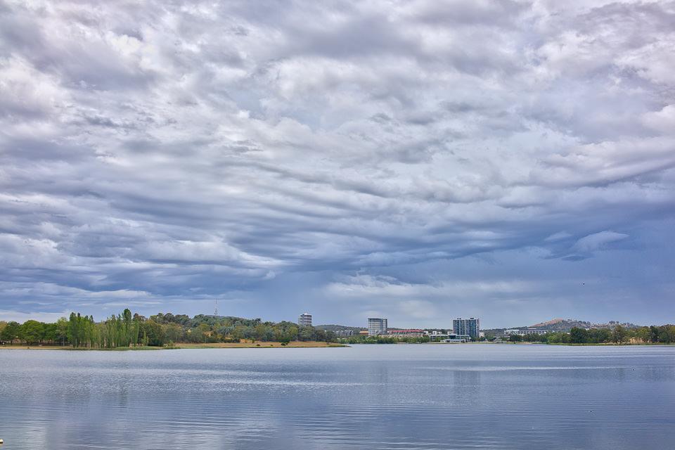 Lake Ginninderra on a Saturday morning in February Gary Lum