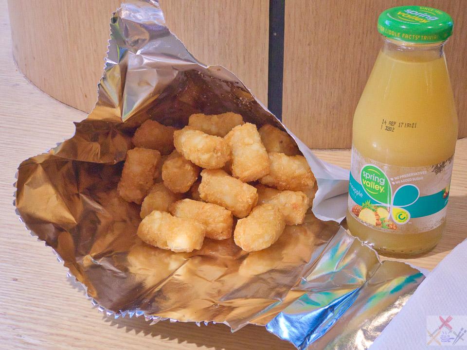 Potato gems and pineapple juice Gary Lum