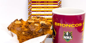 The 2017 #NRL season kicks off tonight. Let's GO Brisbane Broncos. Coffee with Urban Bean almond and white chocolate muffin. Gary Lum