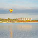 Balloon on Lake Burley Griffin Bridge to Bridge Gary Lum