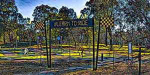 Lake Ginninderra Learn to Ride Centre in Belconnen Canberra with the Prisma app Gary Lum